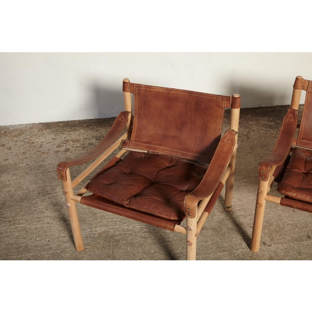 Pair of Arne Norell Sirocco Safari Chairs, Norell Mobel, Sweden, 1970s For Sale - Image 9 of 13