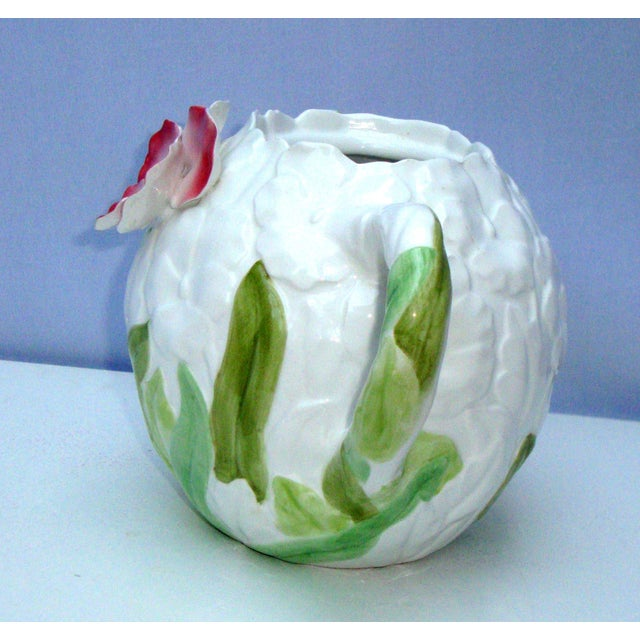White Green & Pink Porcelain Floral Teapot - Image 11 of 11