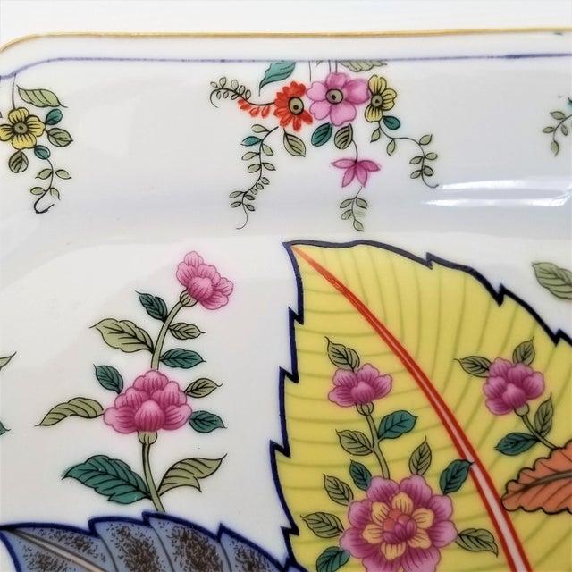 Vintage Japanese Porcelain Tobacco Leaf Tray - Signed 1977 For Sale - Image 9 of 12