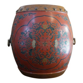 1960s Tibetan Drum Side Table For Sale