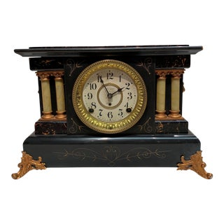 20th Century Seth Thomas Pasargad American Mantel Clock For Sale