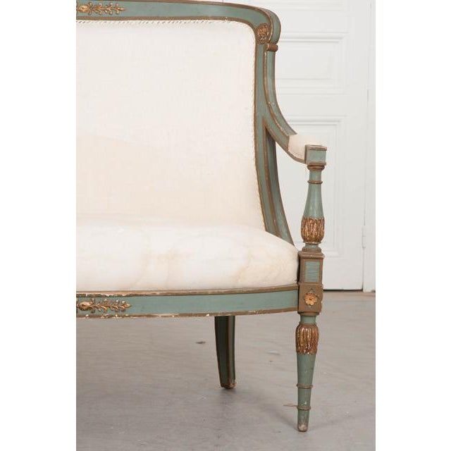 French French 19th Century Parcel Gilt Empire Settee For Sale - Image 3 of 12