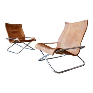 Takeshi Nii for Suekichi Uchida Leather Lounge Chairs