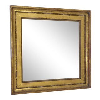 19th Century French Square Giltwood Mirror For Sale