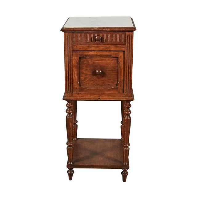 White Henry II Style Night Stand For Sale - Image 8 of 8
