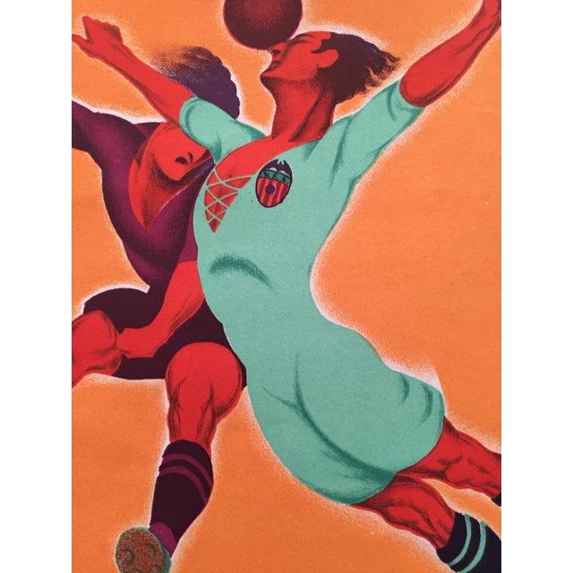 Original Vintage 1931 Spain Soccer Poster For Sale - Image 5 of 6