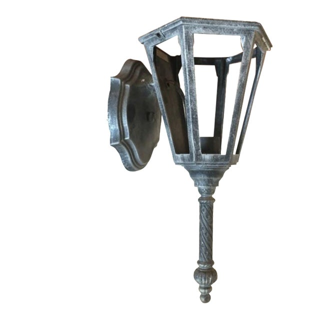 1970s Industrial Rustic Wall Sconce - Image 1 of 8