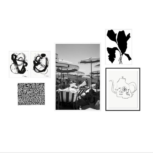 Black and White Gallery Wall, Set of 6 For Sale - Image 10 of 10