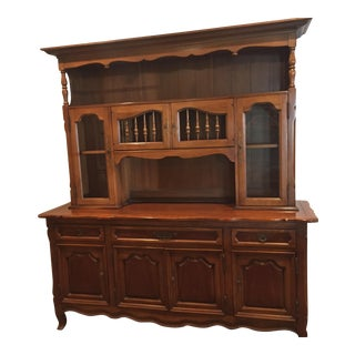 Drexel Basque Provincial Cherry Wood China Hutch