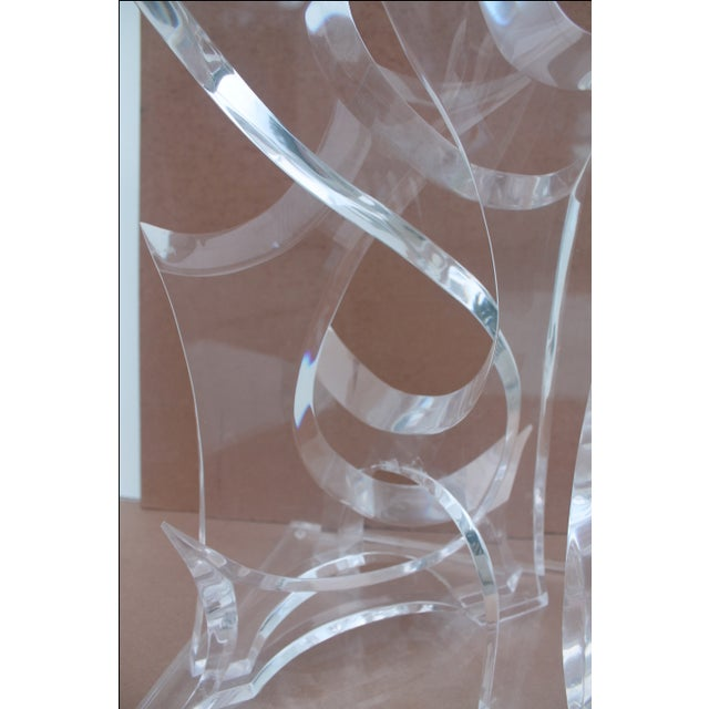 Abstract Lucite Sculpture by Van Tial - Image 9 of 11