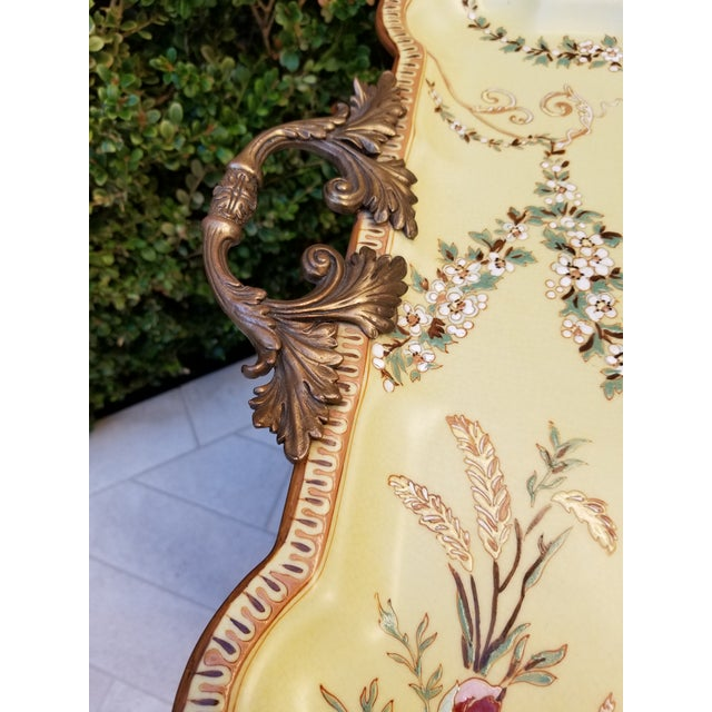 Black Porcelain Tray Table For Sale - Image 8 of 9