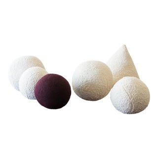 Architectural Pillows by Hunt Modern in Textural Wools For Sale