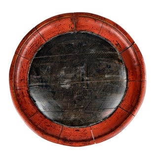 19th Century Chinese Wood Dome Display Tray For Sale