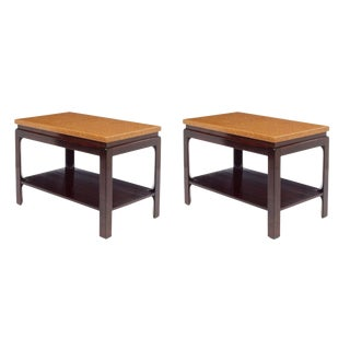 Paul Frankl Cork Top End Tables - a Pair For Sale
