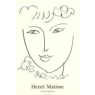 1992 Henri Matisse 'La Pompadour' Modernism Black & White France Offset Lithograph For Sale