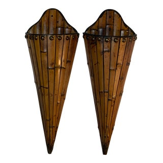 Bamboo Wall Hanging - a Pair