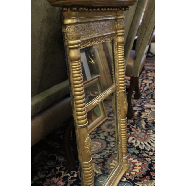 Art Nouveau Gold Two Section Mirror For Sale In New York - Image 6 of 9