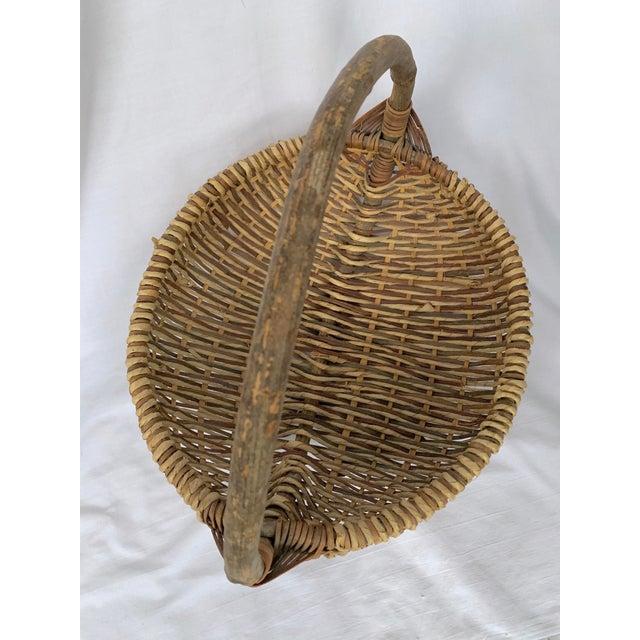 Green Vintage Buttocks Gathering Basket For Sale - Image 8 of 13