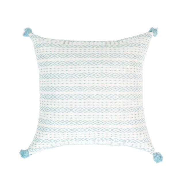 Mexican Serenity Blue Handwoven Pillow - Image 1 of 7