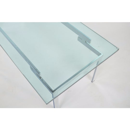 Glass & Chrome Staggered Base Coffee Table - Image 5 of 6