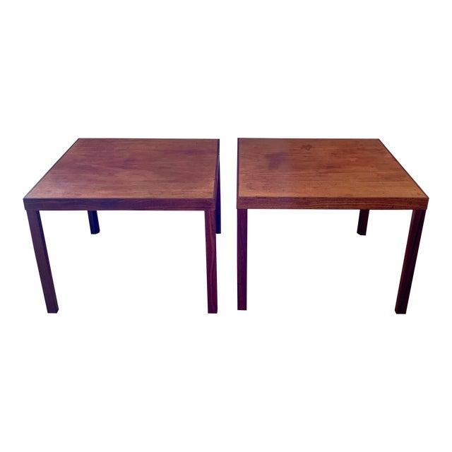 1960s Danish Modern Hans Olsen Teak Side Tables - a Pair For Sale
