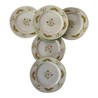 "Vintage Sango ""Charisma"" Diplomat Pattern #338 Salad Plates S/8 For Sale"