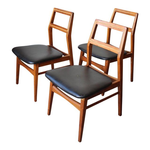 Mid-Century Danish Modern Foster-McDavid Furniture Inc. Chairs - Set of 3 - Image 1 of 11