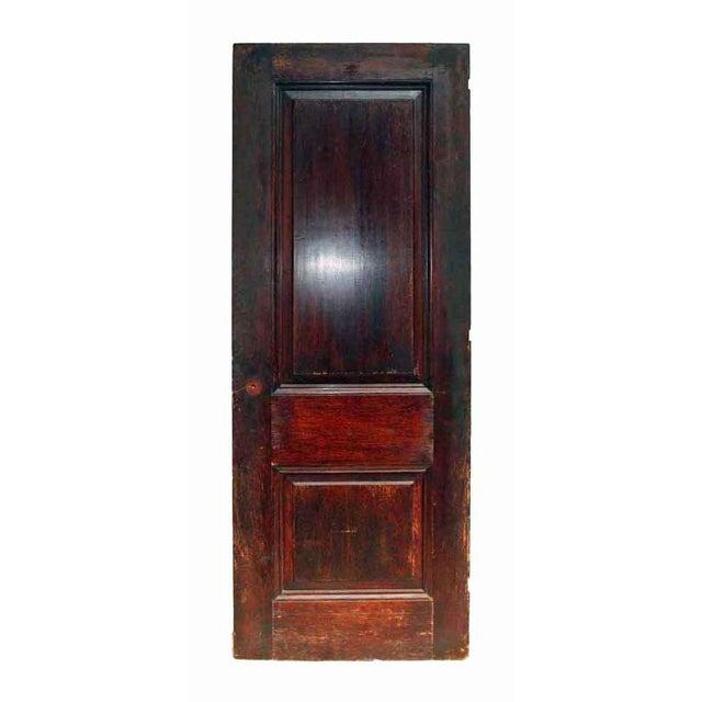 Antique Two Panel Wood Door - Image 5 of 5