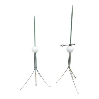 Vintage Lightning Rods -A Pair