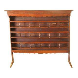 Antique French Plate / Bar Rack For Sale