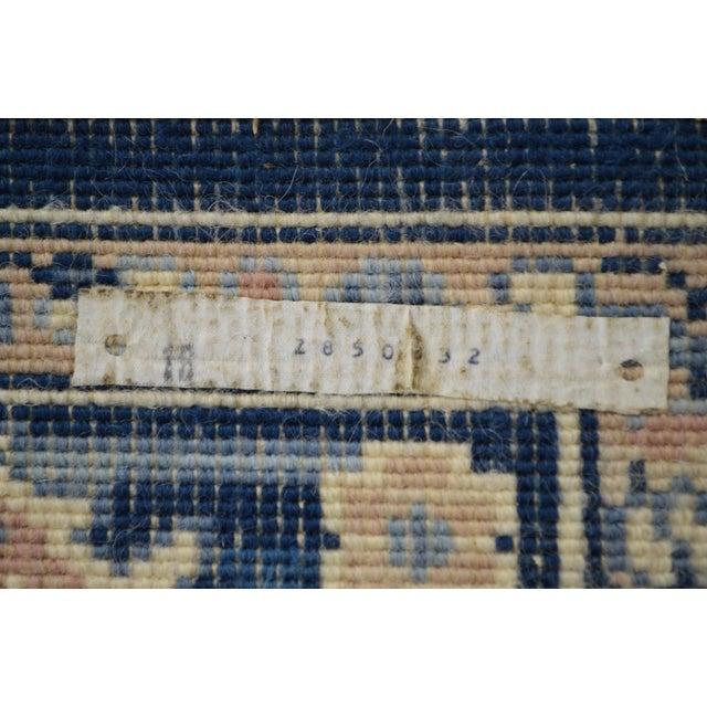 Karastan 4.3' x 6' Blue Heriz Area Rug #748 For Sale - Image 5 of 13