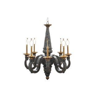 Late 20th Century Maitland Smith Carved Chandelier For Sale