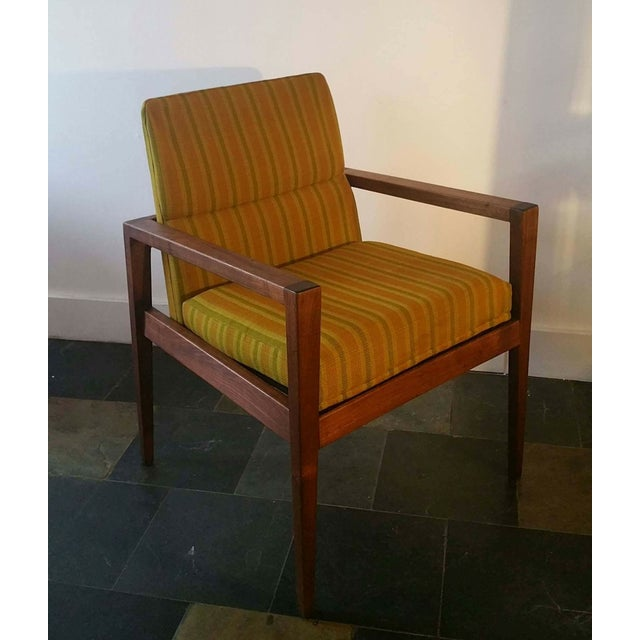 Jens Risom Walnut Cube Desk Chair - Image 6 of 7