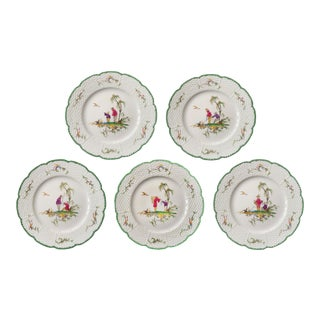 "Raynaud Chinoiserie Dessert Plates in ""Si Kiang"" Pattern - Set of 5 For Sale"