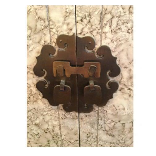 Henredon Vintage Henredon Faux Tortoiseshell Cabinet For Sale - Image 4 of 5
