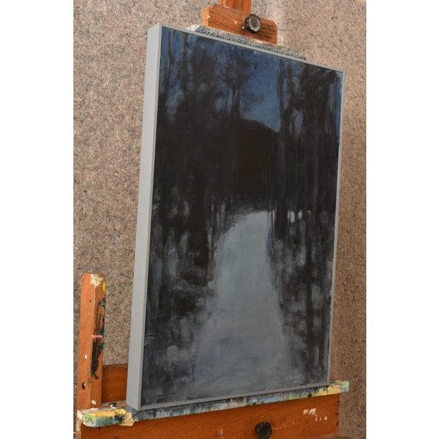 """""""Turning Into the Night"""" Contemporary Abstract Landscape Acrylic Painting by Stephen Remick For Sale In Providence - Image 6 of 11"""