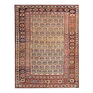 "Antique Persian Bijar Rug 5'3"" X 7'0"" For Sale"