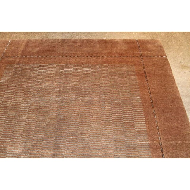 Mid 20th Century Hand Knotted Classic Geometric Rug - 6′ × 9′3″ For Sale - Image 5 of 6