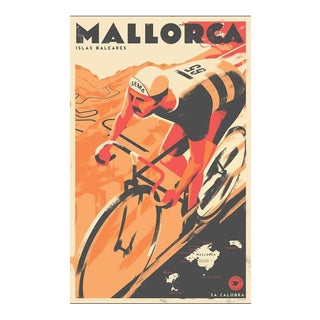 2017 Danish Modern Travel Mallorca Poster, Sa Calobra For Sale