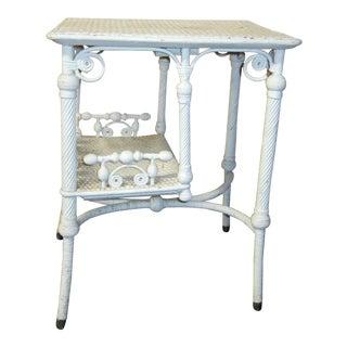 Circa 1900 Victorian Wicker Side Table