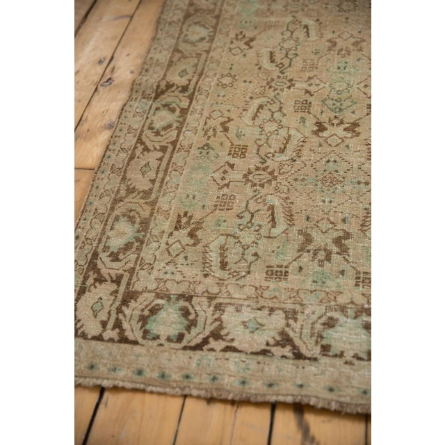 "1940s Vintage Distressed Shiraz Carpet - 5'4"" X 8'3"" For Sale - Image 5 of 12"