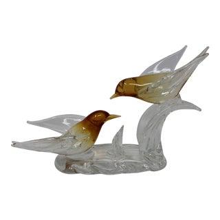 Vintage Archimede Seguso Birds Figurine For Sale