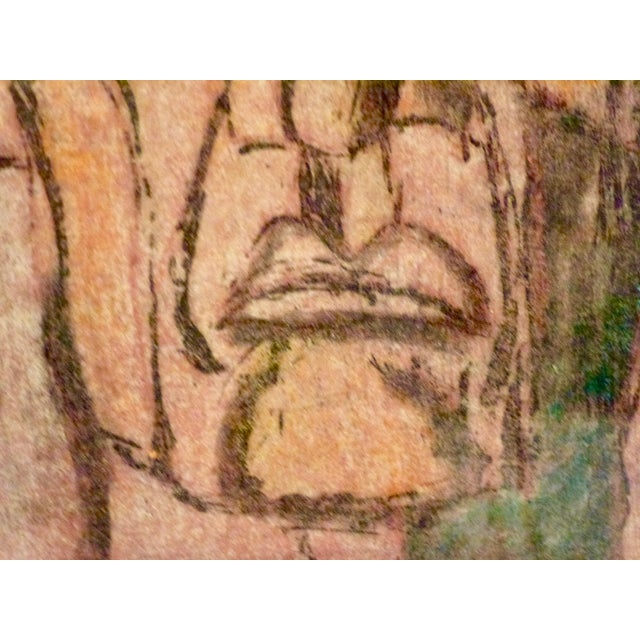 Original Cubist Movement Block Print Portrait - Image 5 of 9