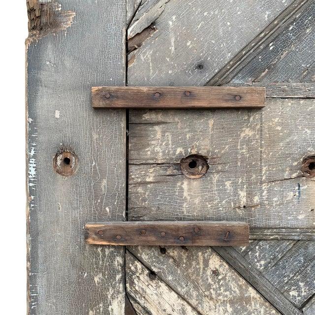 Metal 19th Century Vintage American Barn Door For Sale - Image 7 of 13