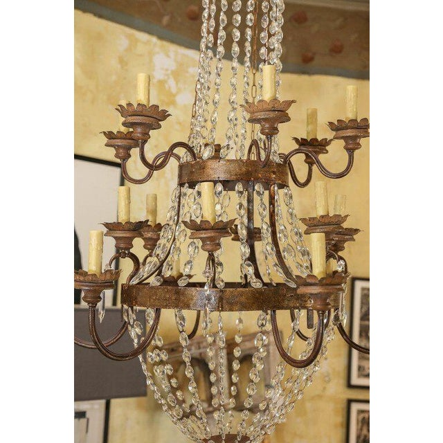 Large Gilt-Iron Italian Chandelier For Sale In Houston - Image 6 of 6