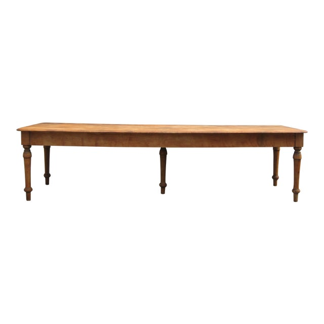 Grand Antique Farm Kitchen Table, 10' Length - Image 9 of 9