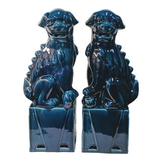 Legend of Asia Turquoise Foo Dogs - a Pair For Sale