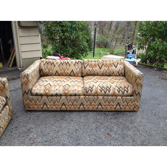 It's not often that you find vintage upholstered pieces like these in such amazing original condition. This listing is for...