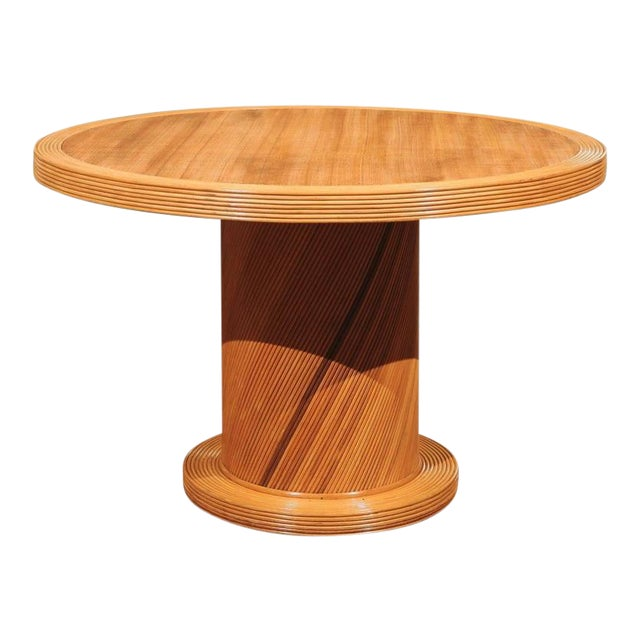 Elegant Circular Center or Dining Table by Bielecky Brothers For Sale
