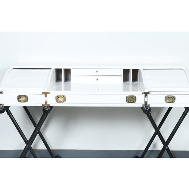 White Hollywood Regency Desk - Image 4 of 11